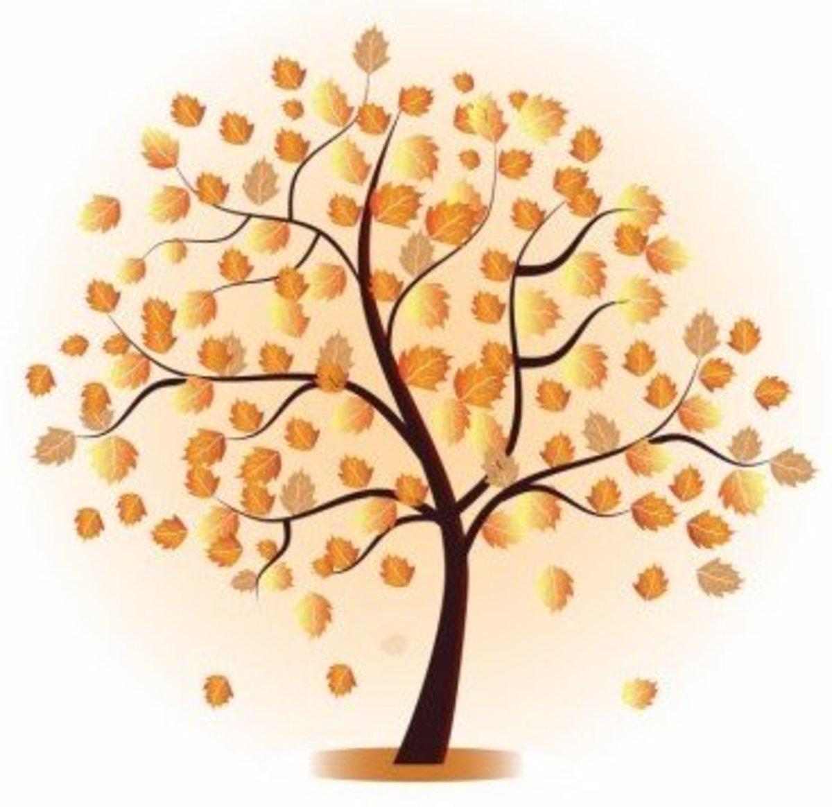 Autumn Oak Tree Clip Art