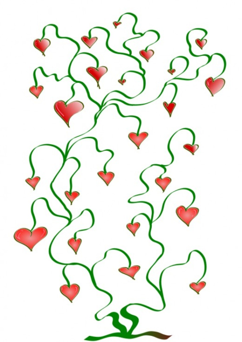 Artistic Tree of Hearts