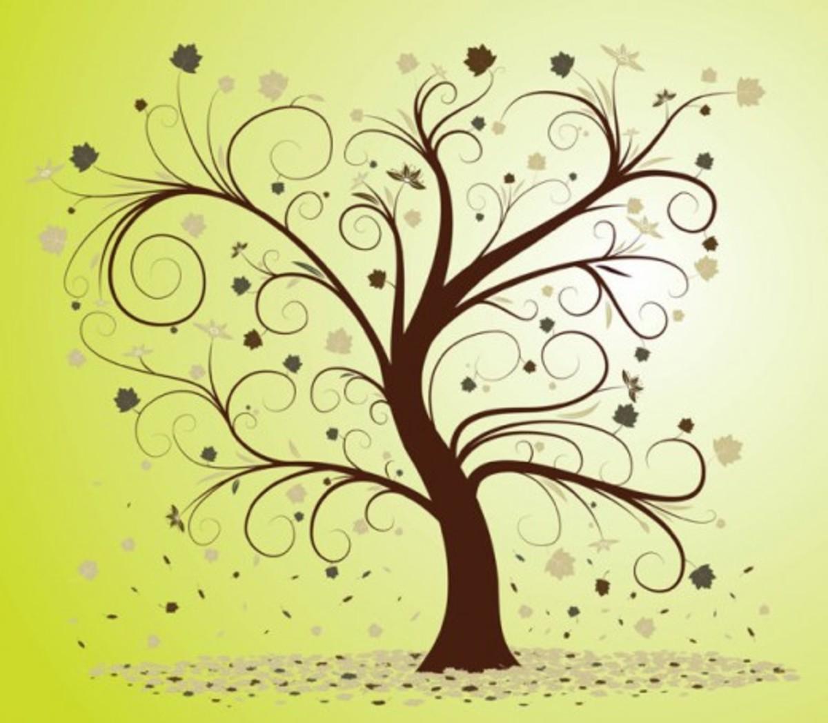 Winter Abstract Tree Art