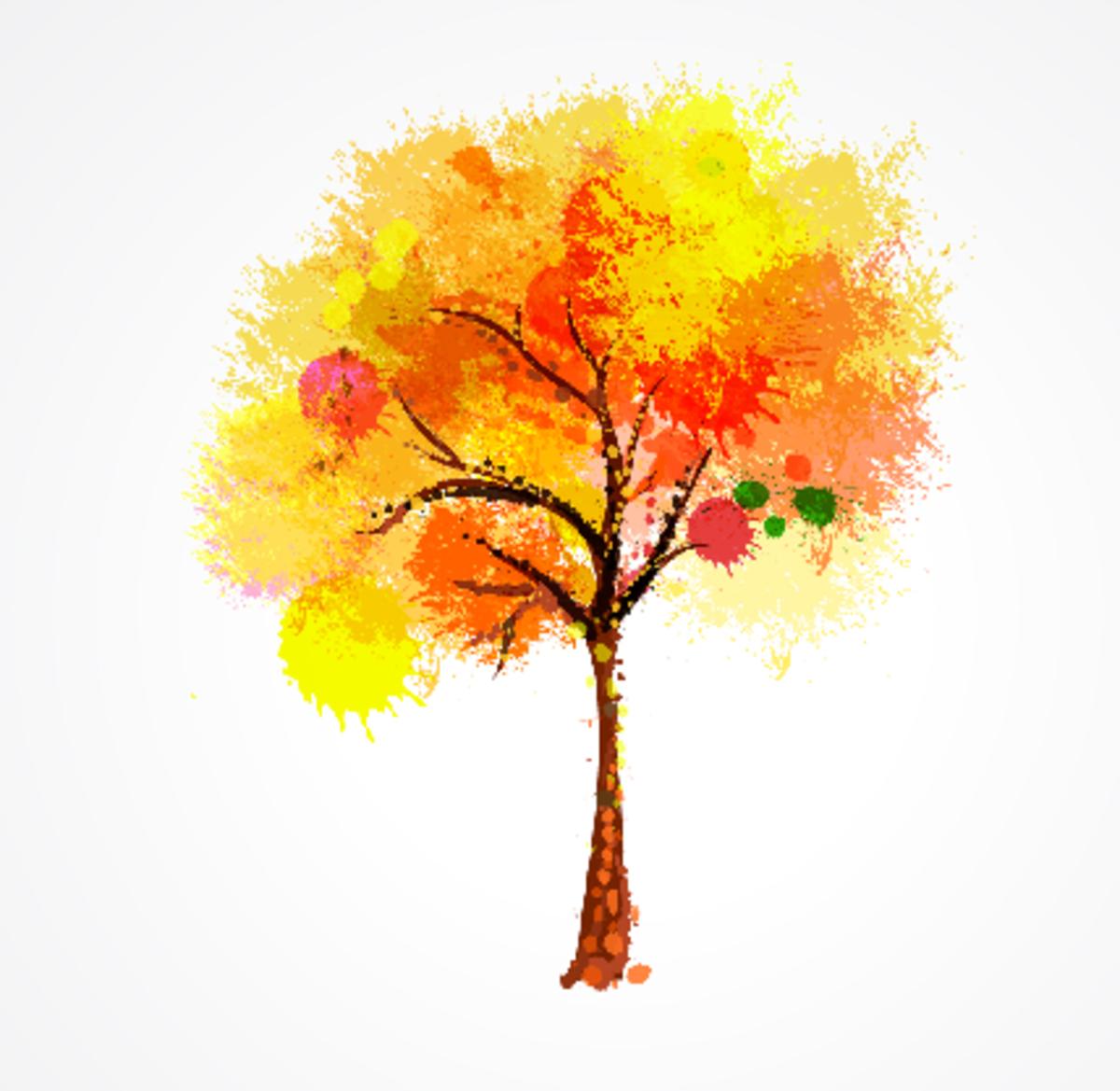 Artistic Autumn Tree