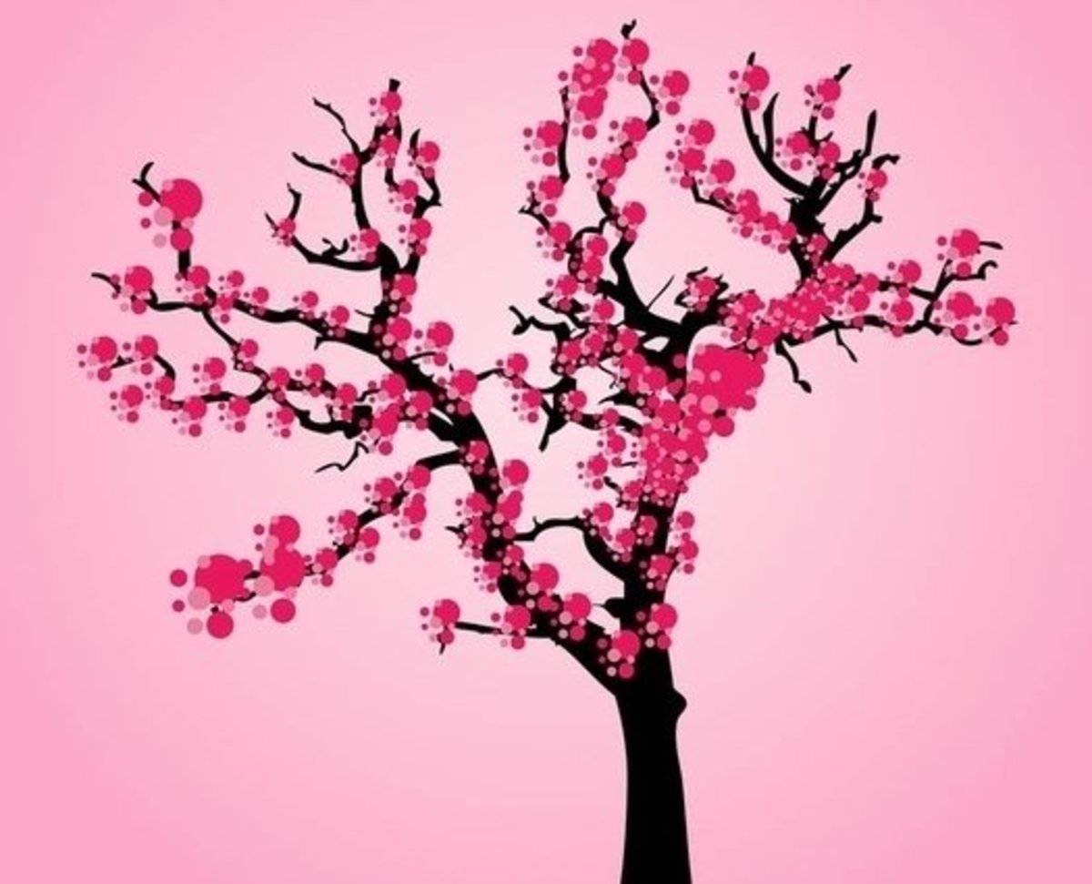 Artistic Cherry Tree
