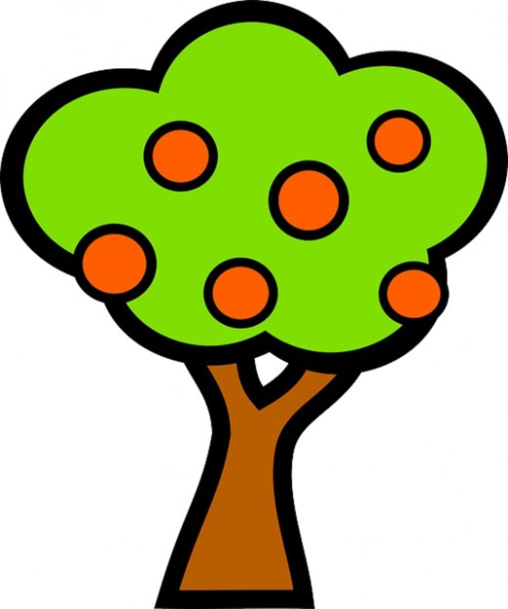 Big Orange Tree Graphic