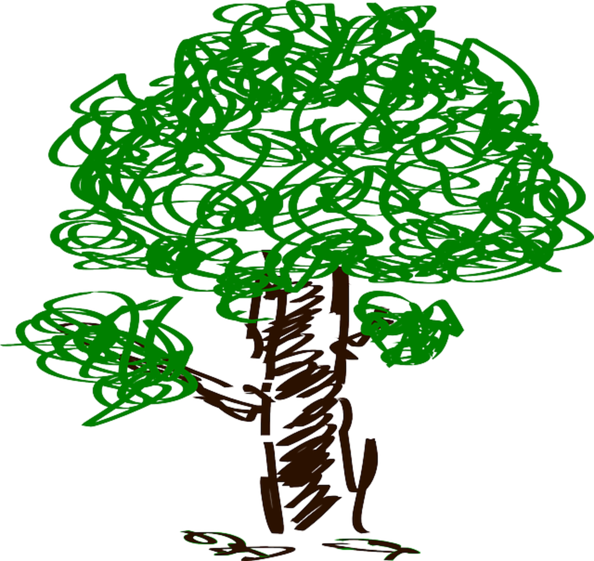 Scribble Drawing of Tree