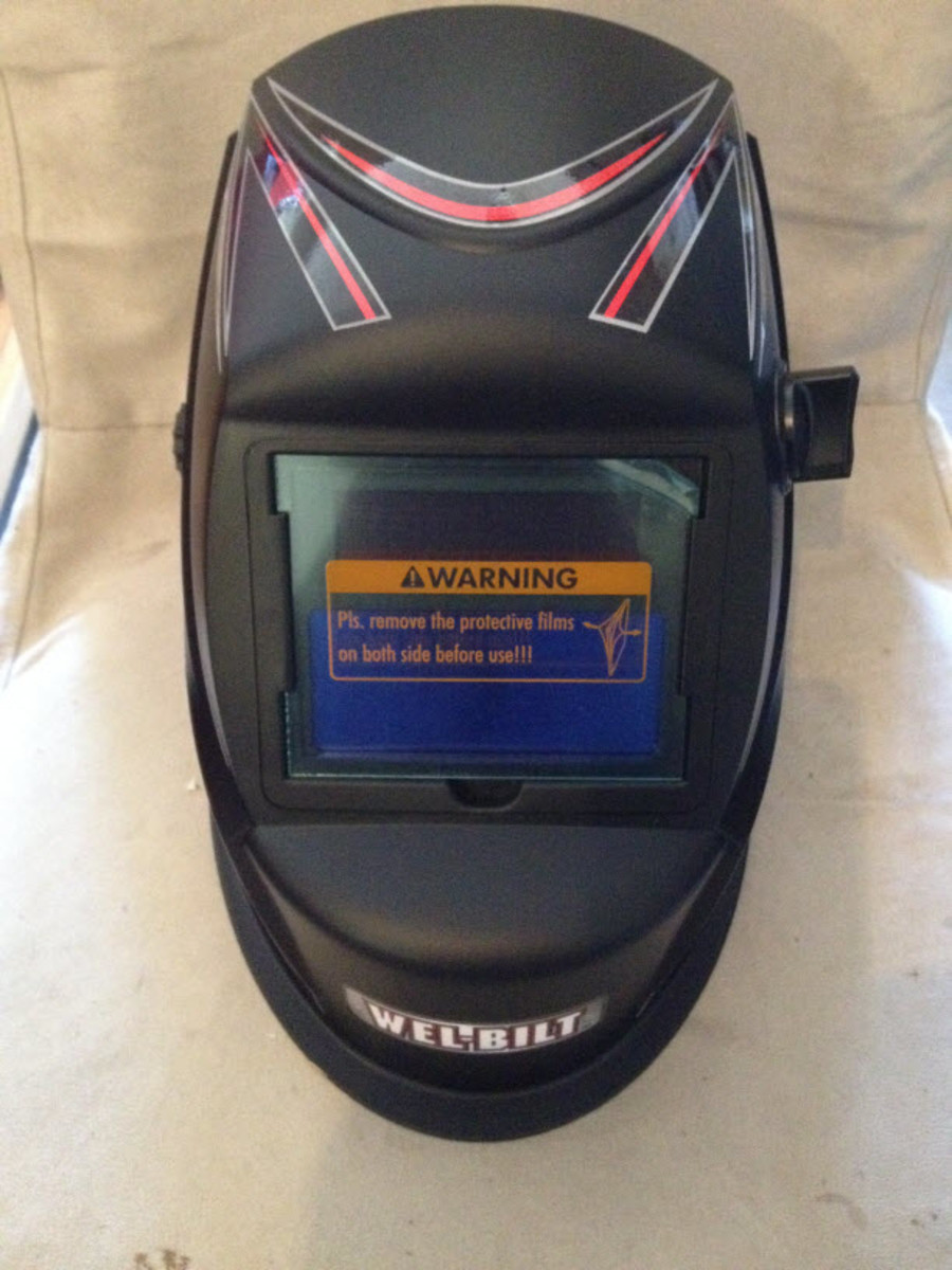 My new cheap auto-darkening welding helmet.