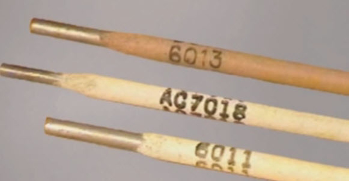 E6013, AC7018, and E6011 welding rods. The AC7018 means you weld in AC with it.