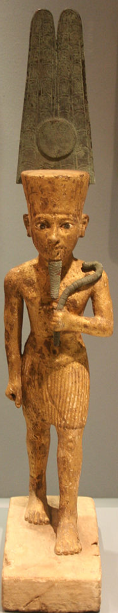 Amun-Ra (god Amun with sun disc in front of his plumes)
