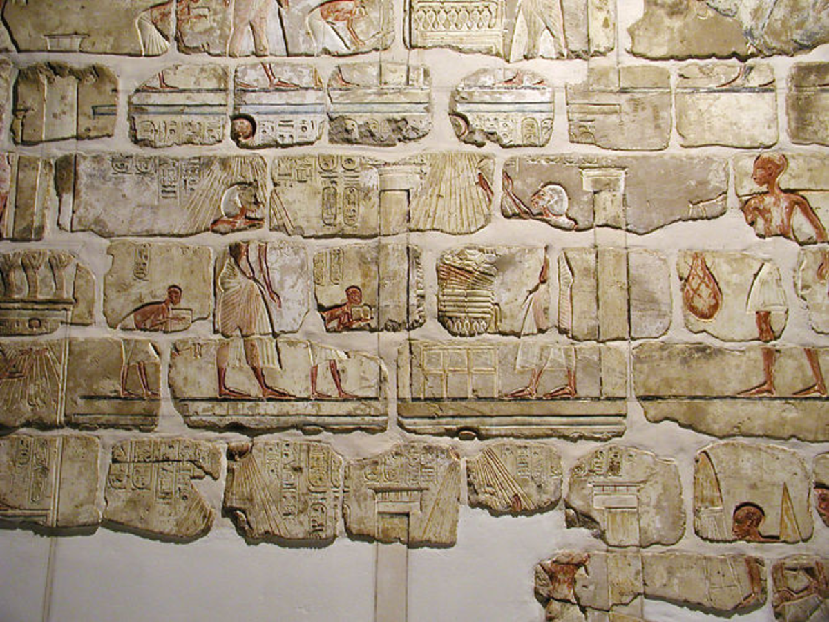 Small section of wall from Gempaaten after reconstruction.