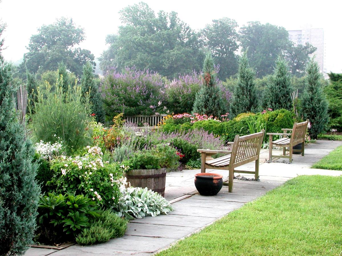 A herb garden can be a tranquil place to sit and relax and reflect.