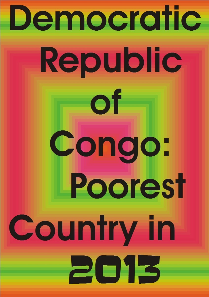 Poverty in DRG. Democratic Republic of Congo as the world poorest nation. Poverty treats them bad.