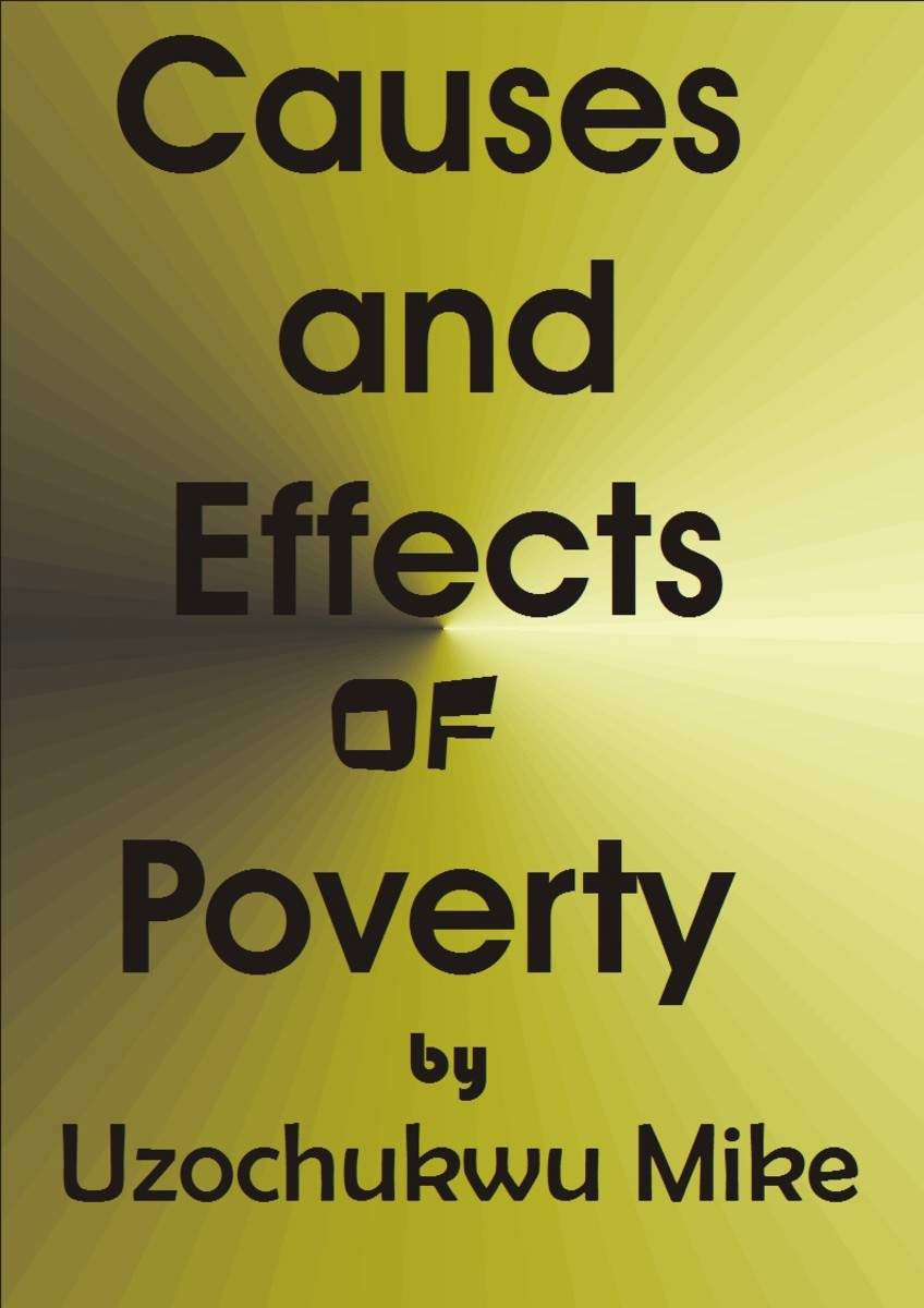 Expression of poverty. The effects or adverse effects of poverty.