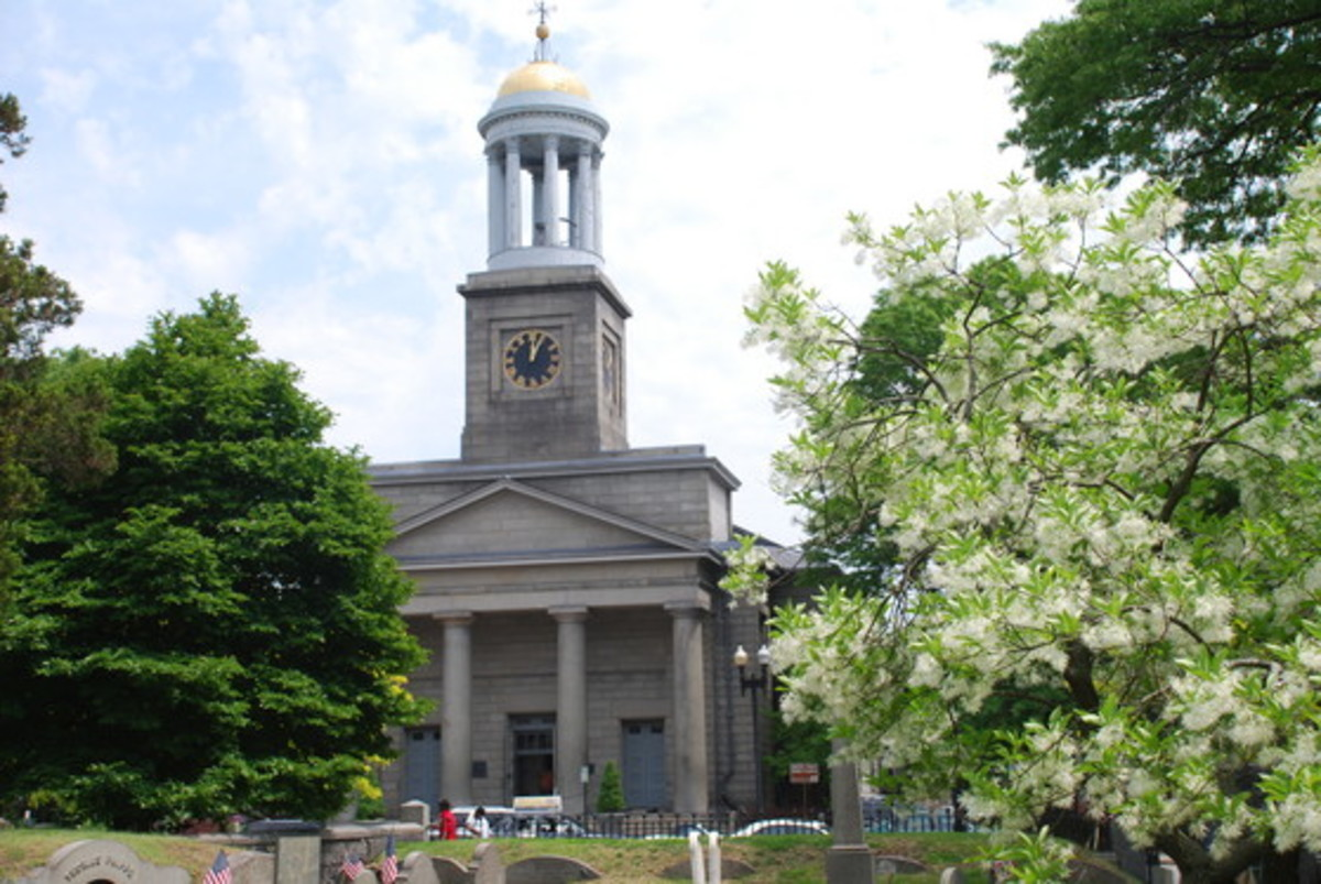 United First Parish Church, Quincy, the burial site of John Adams & JQA