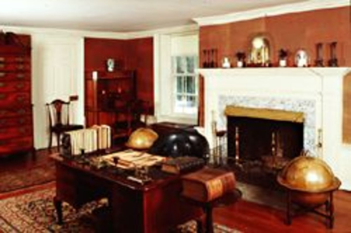 The Adams' study at Peacefield.