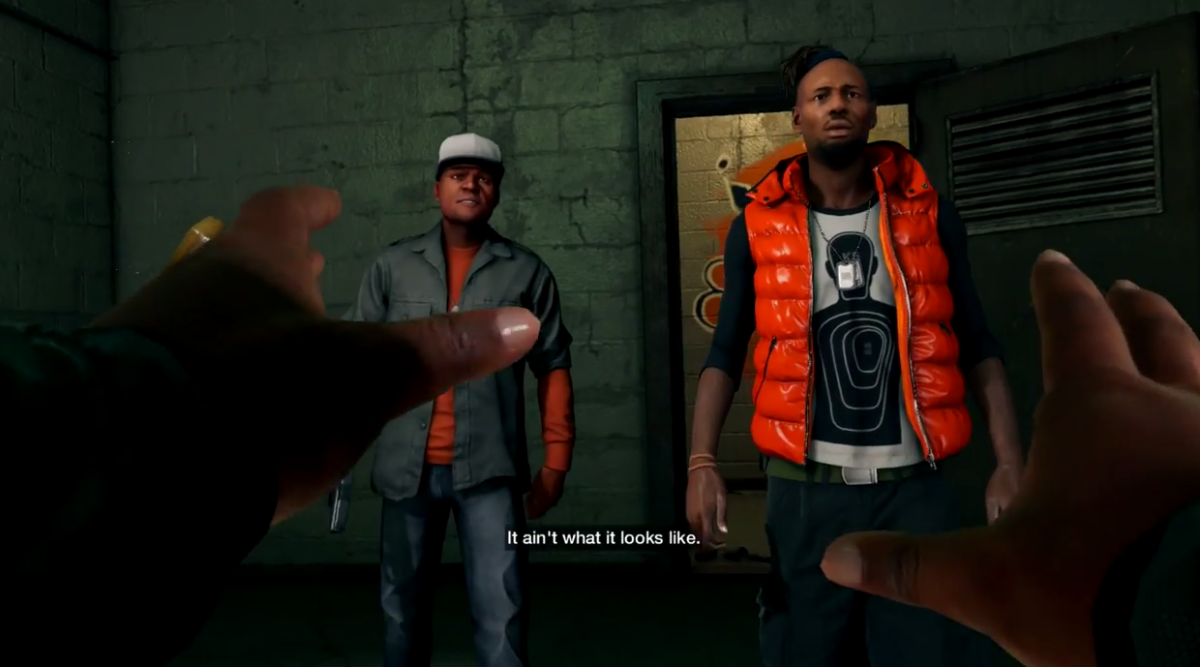 Tyrone gets into some deep trouble after he's found out during the Planting a Bug mission of Watch_Dogs.