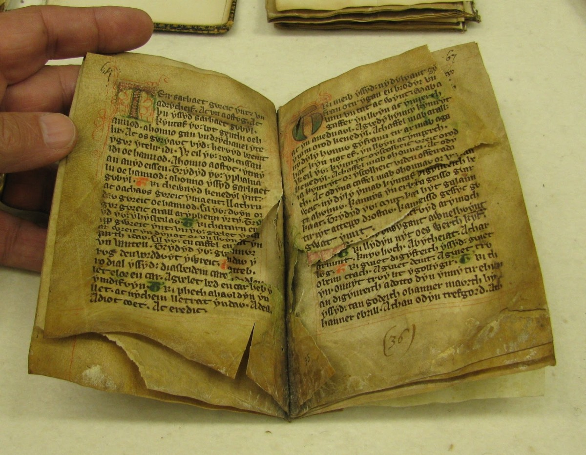 Original manuscript of The Law of Wales written by Hywel Dda around 940 AD.