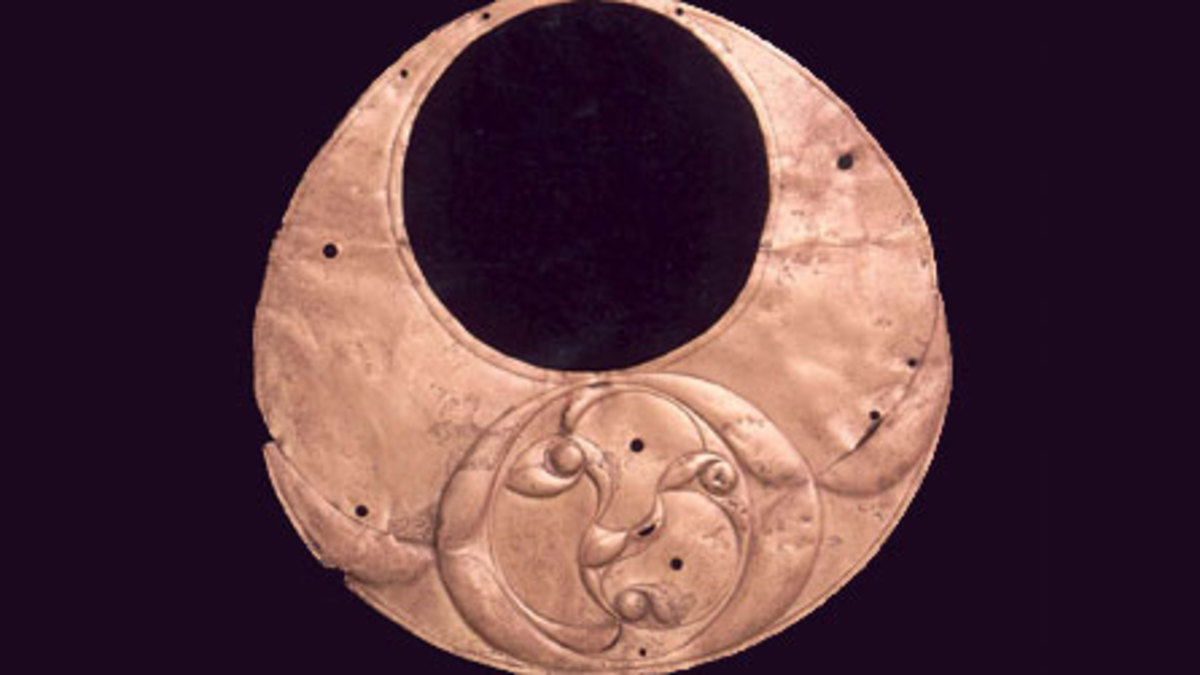 Collar necklace found in Wales from the Celtic Iron Age.