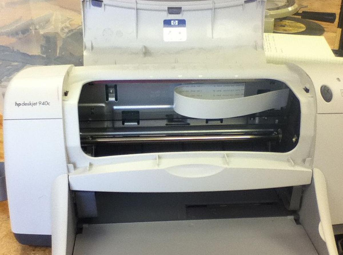 An HP inkjet printer