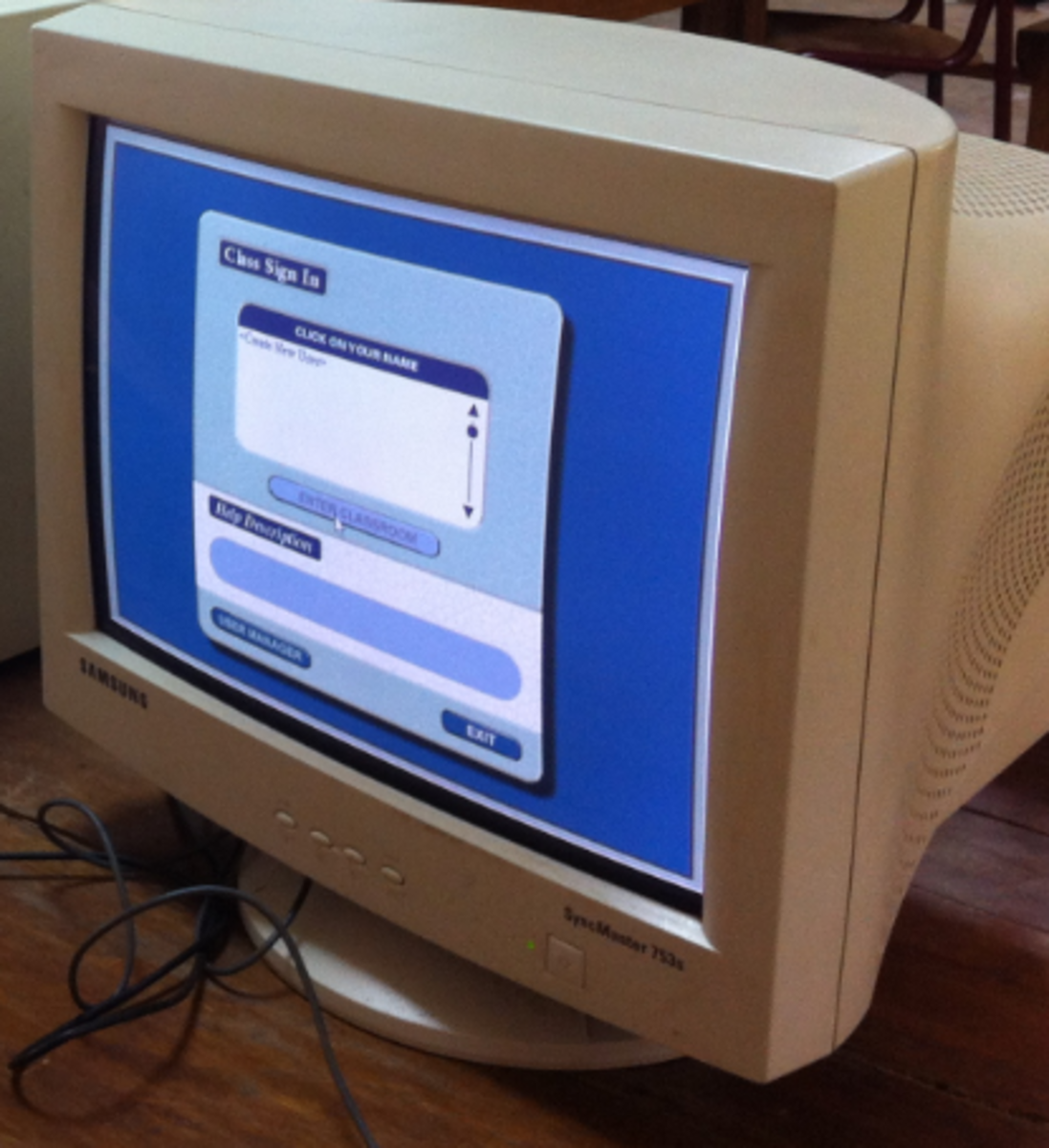 A CRT monitor is an example of output device