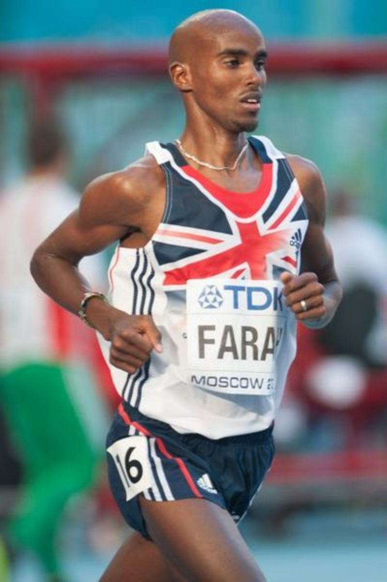 Mo Farah during 2013 World Championships in Athletics in Moscow.