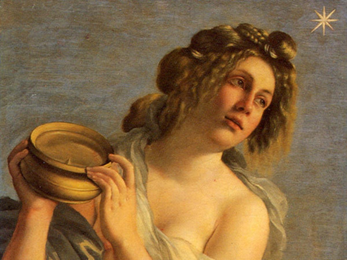 Artemisia Gentileschi, Allegory of the Inclination (a. 1615), detail, Florence Casa Buonarroti