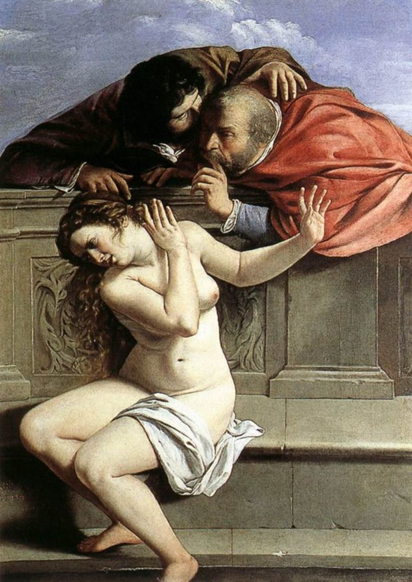 A. Getileschi, Susanna and the Elders (a. 1610), Graf von Schönborn collection, Pommersfelden,