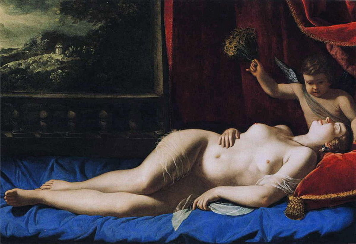 A. Gentileschi, Sleeping Venus (a. 1625), Princeton, the Barbara Piasecka Johnson Foundation