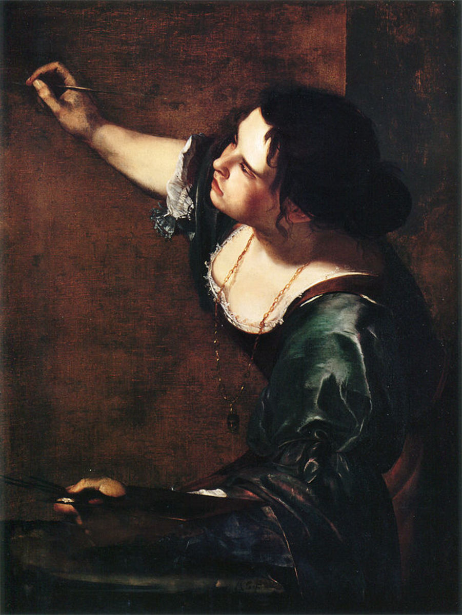 A. Gentileschi, Self Portrait as the Allegory of Painting (a. 1630), London Kensington Palace