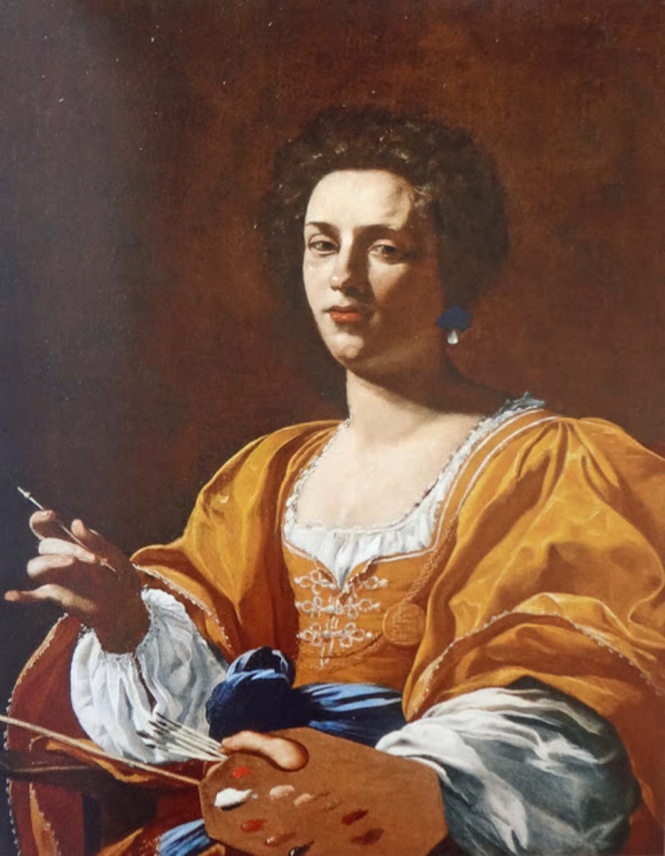 Simon Vouet, Portrait of Artemisia Gentileschi (a. 1620 ?) - The French painter Simon Vouet was a follower of Caravaggio and a friend of Artemisia. He portrayed her probably in Rome after 1620.