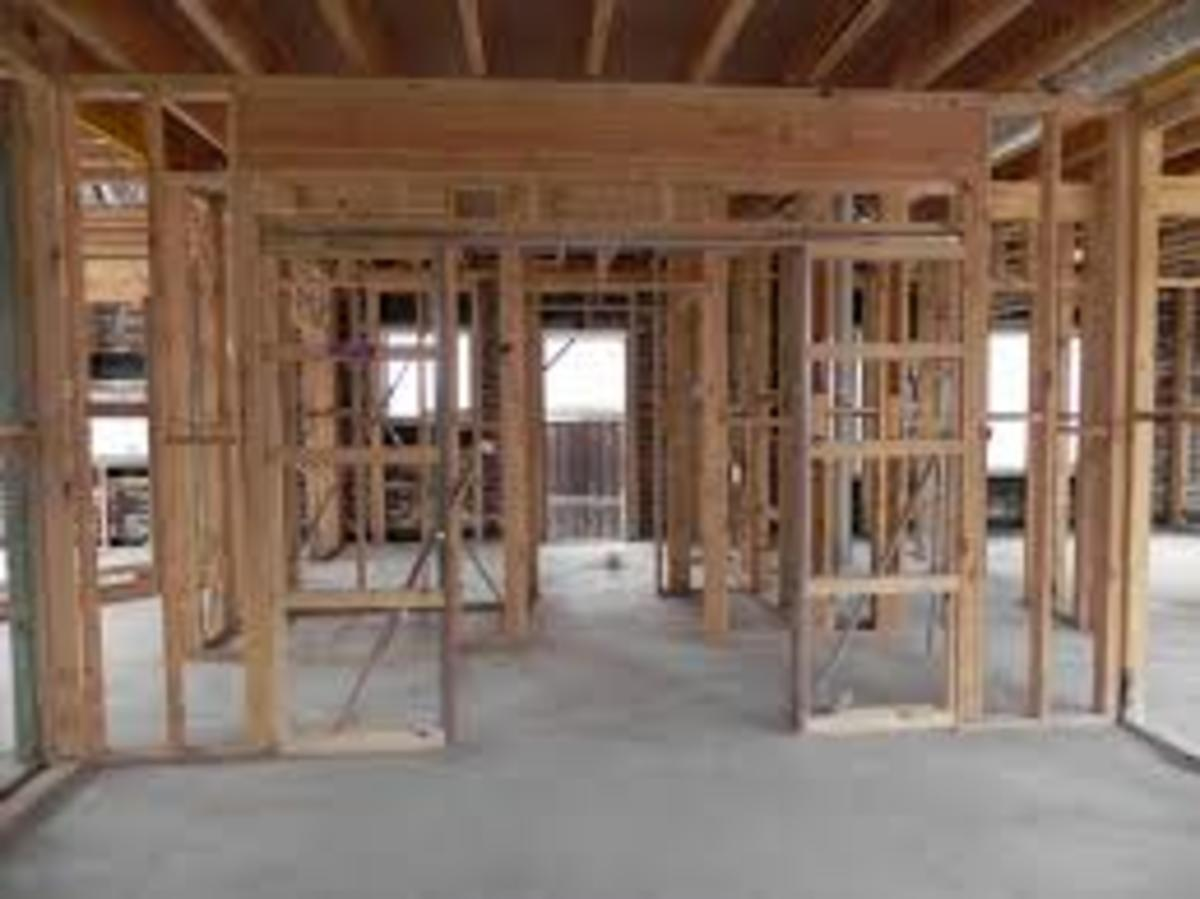 When building a brick veneer the timber frame of the house is the same as when a complete timber house is built, as the timber frame is supporting the roof and the bracing in the wall make it self sufficient.