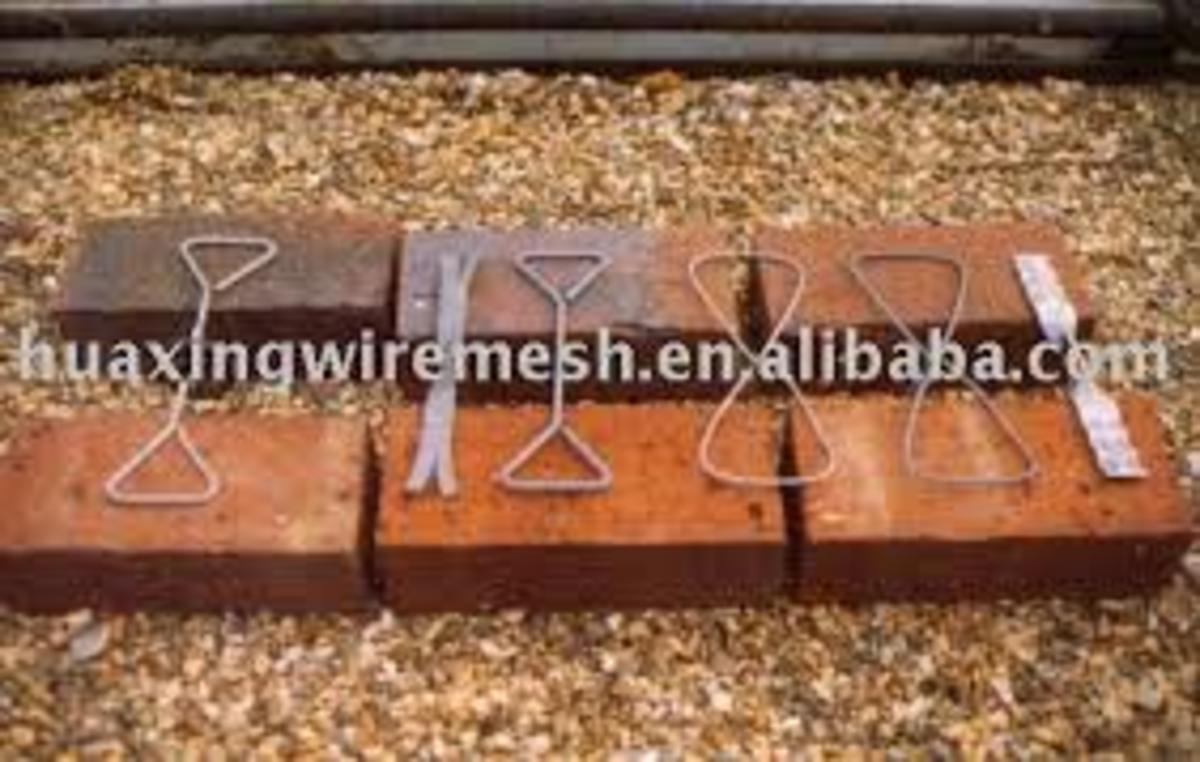 These are some type of cavity brick ties that would tie the two walls and leave a cavity between them.