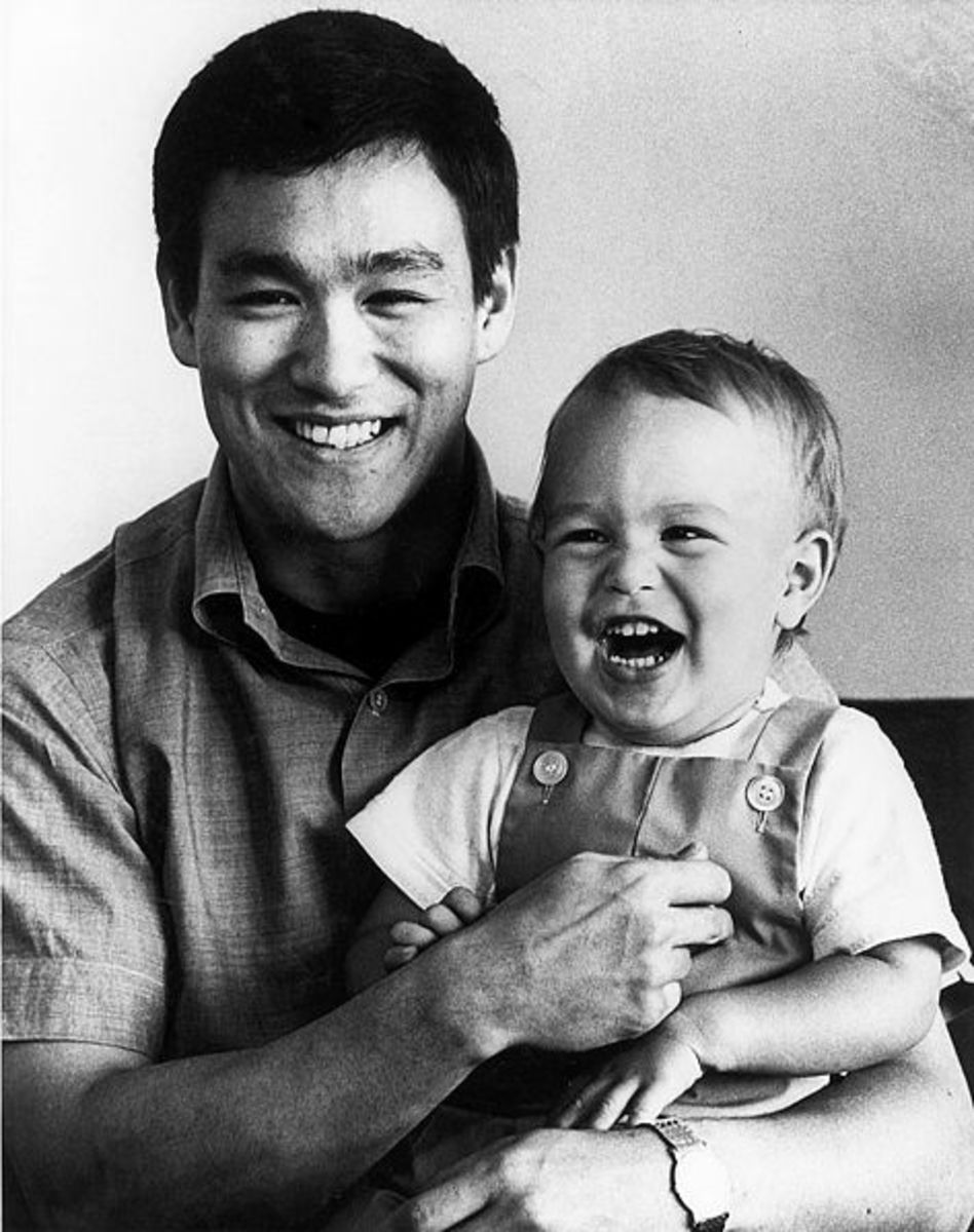 Bruce with his son Brandon