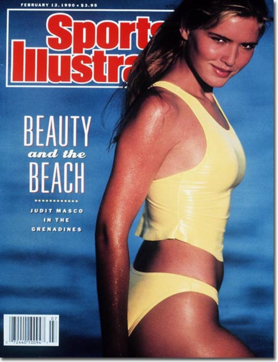 Sports Illustrated Magazine Cover for the Swim Suit Issue with yellow tankini