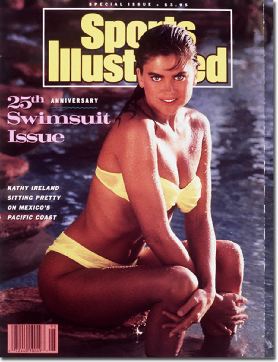 Kathy Ireland 1989 Sports Illustrated in yellow bikini
