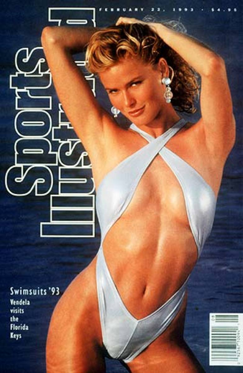 Sports Illustrated Magazine Cover for the Swim Suit Issue in a provocative poise
