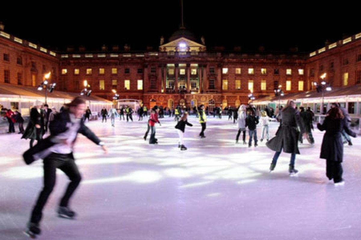 Spinningfields Ice Rink in winter