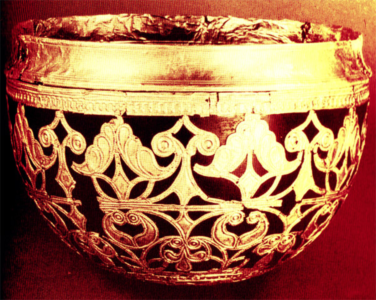 Cup with gold designs from the La Tene culture