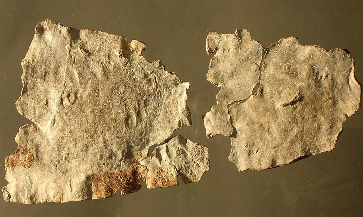 Larzac tablet (c. 100 AD) found in 1983 in southern France.  Longest known Gaulish text ever found.