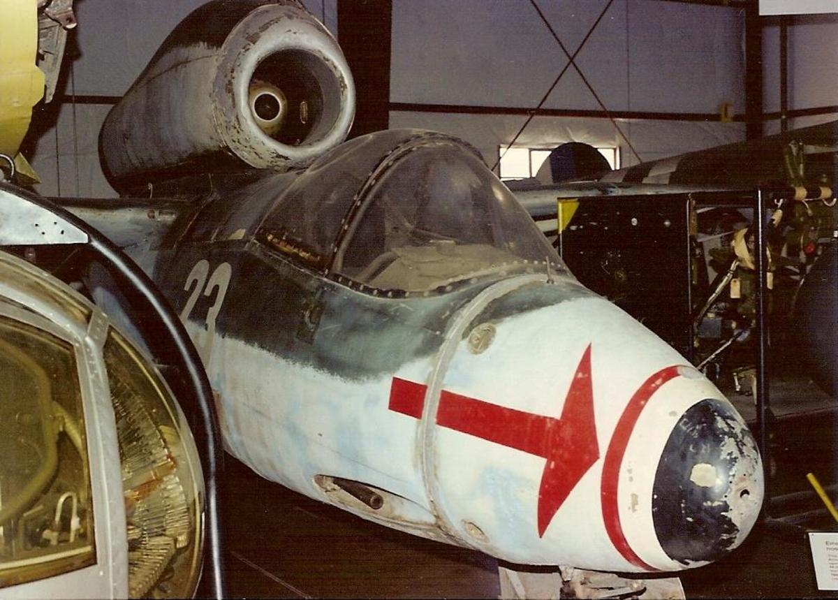 The Smithsonian's He-162 at the Paul E. Garber Facility.