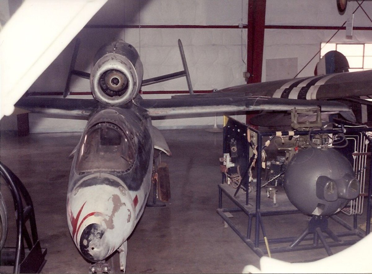 The Smithsonian's He-162 at the Paul E. Garber Facility, 1983.