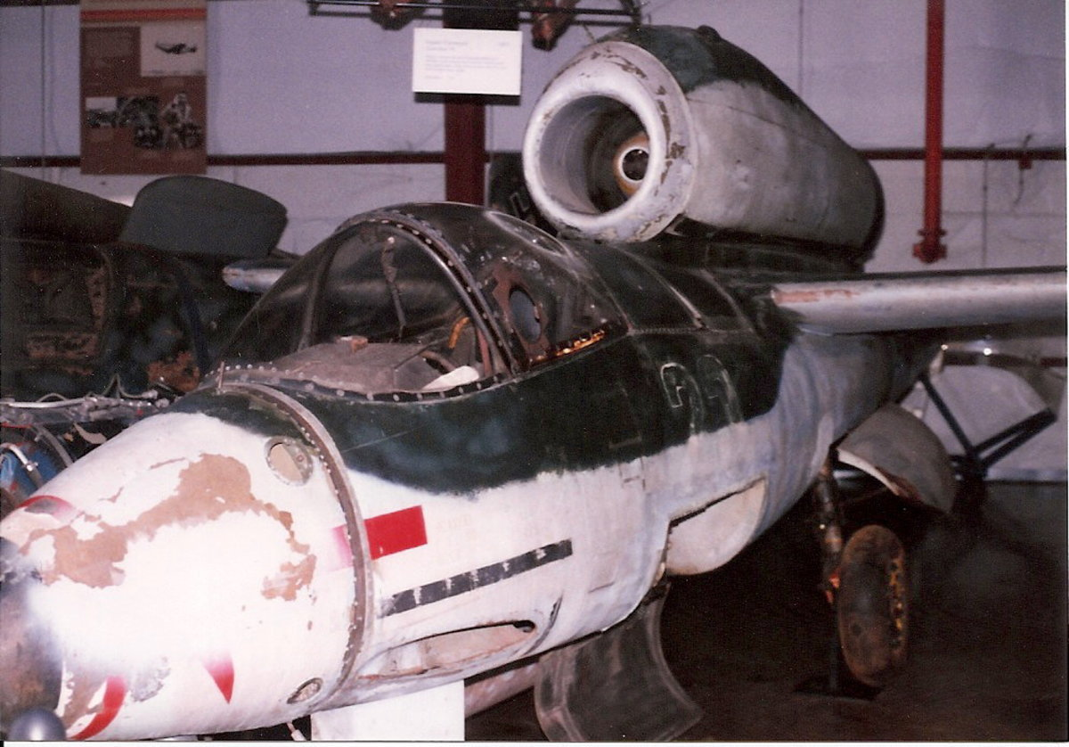 The Smithsonian's He-162 at the Paul E. Garber facility, May 1998.