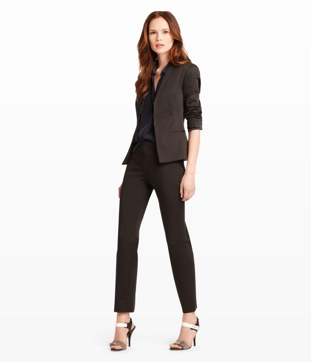 Black Three-piece Pant Suit