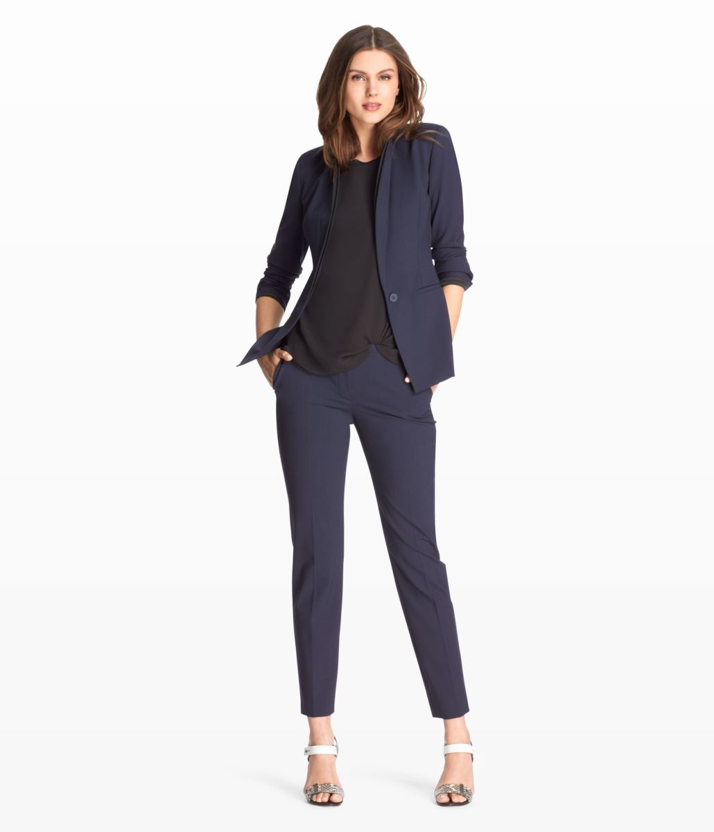 Navy Three-piece Pant Suit