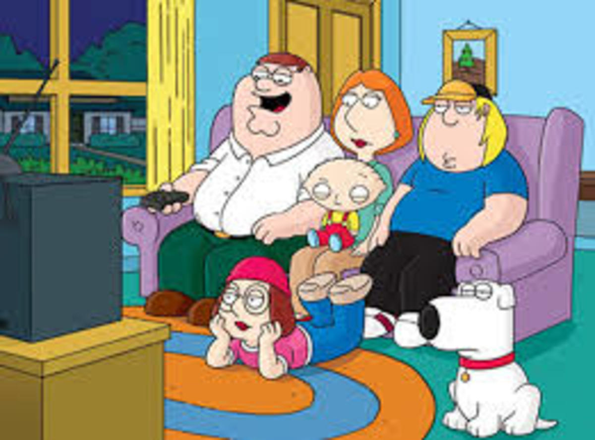 """The """"Family Guy"""" Peter Griffin, Lois Griffin, Chris Griffin, Meg Griffin, Stewie Griffin, Brian Griffin"""