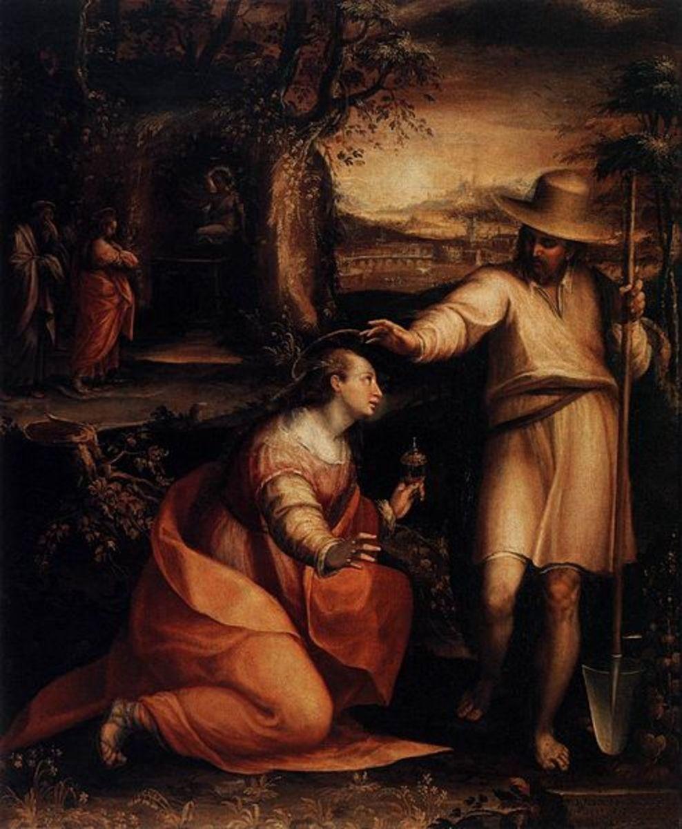 L. Fontana, Jesus Appearing to Mary Magdalene (Noli Me Tangere) (1581), Florence Uffizi