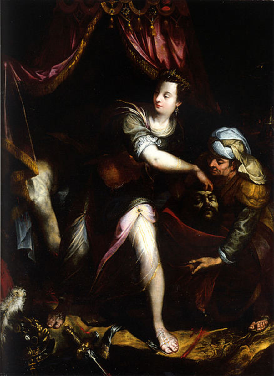 L. Fontana, Judith with the Head of Holofernes (1600), Bologna Bargellini Museum