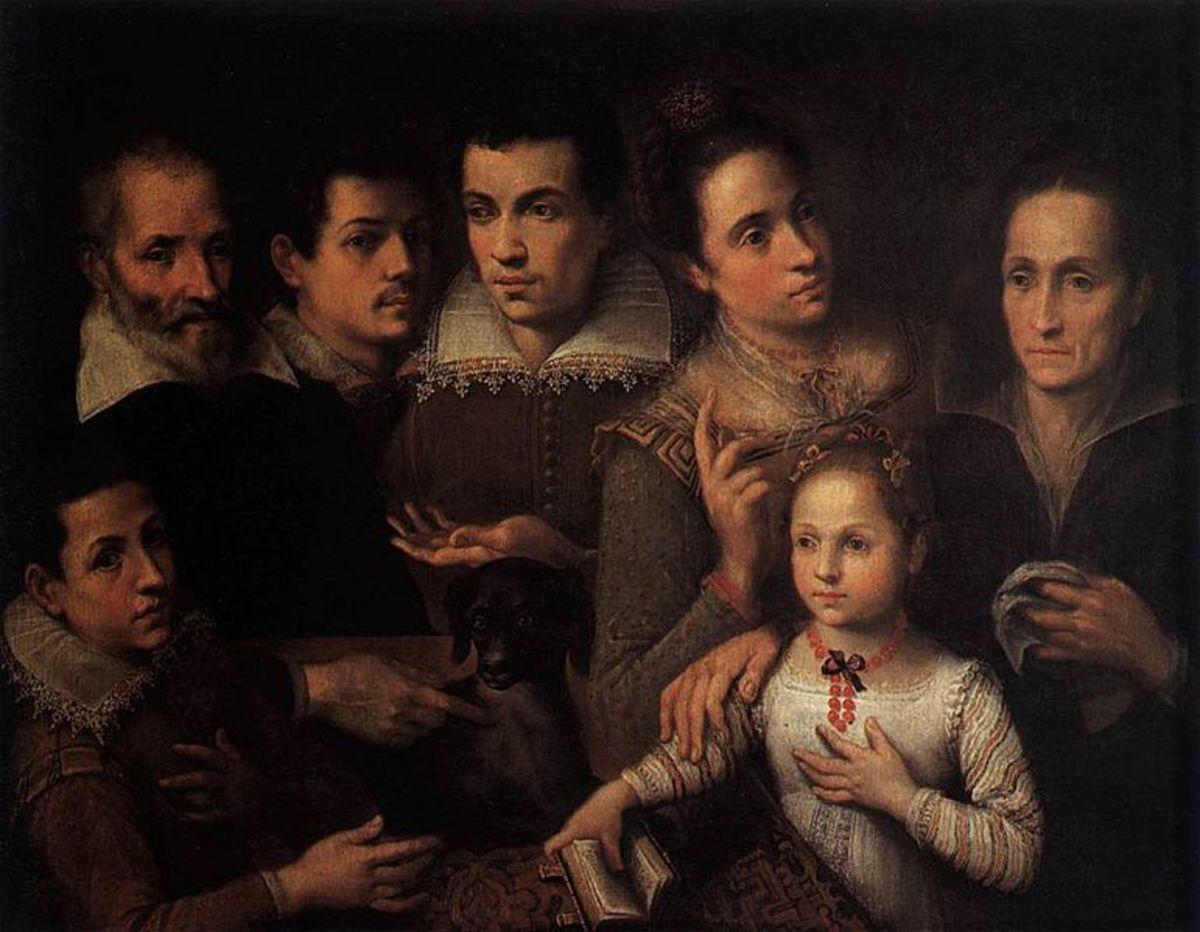 L. Fontana, Family Portrait (1600), Milano Pinacoteca di Brera
