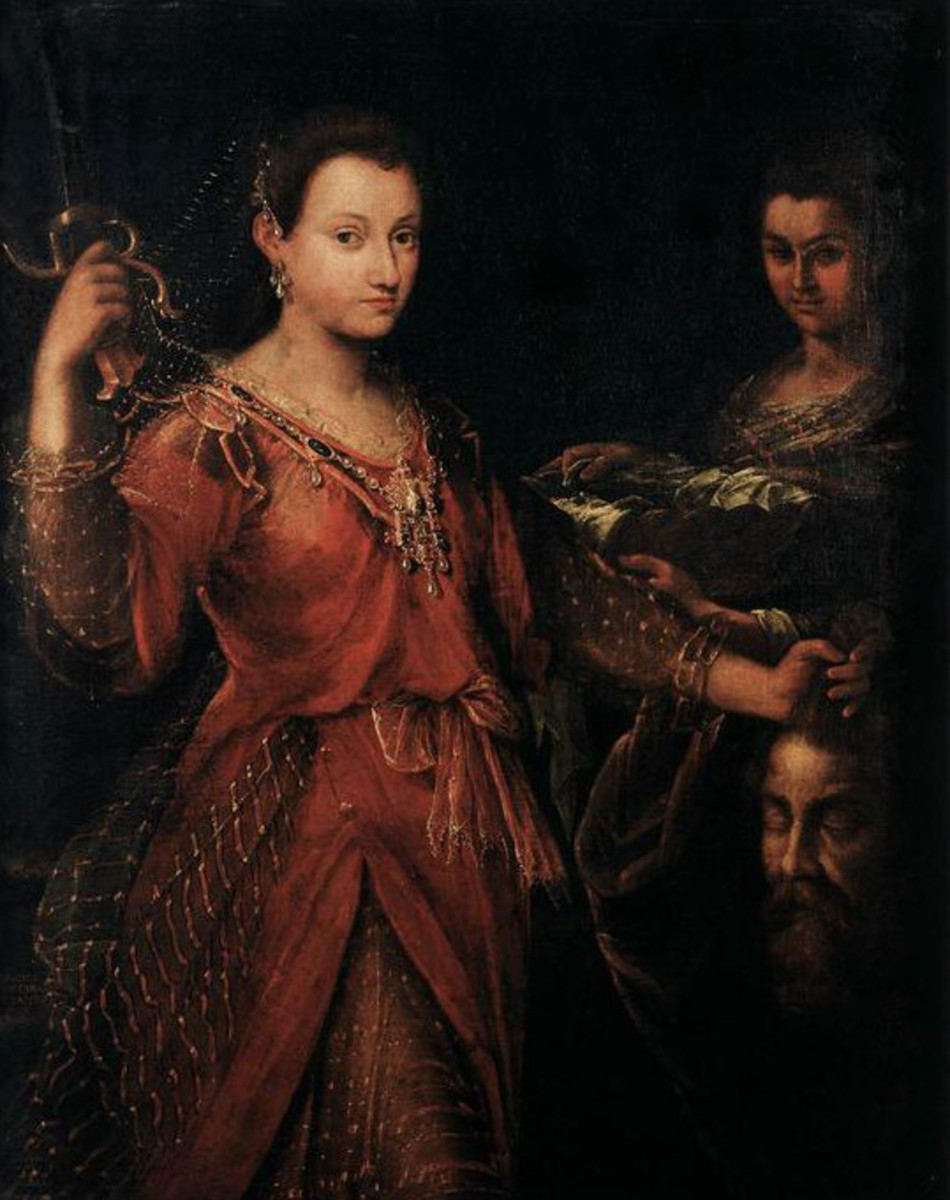 L. Fontana, Judith with the Head of Holofernes (1600), Bologna Oratorio di San Pellegrino