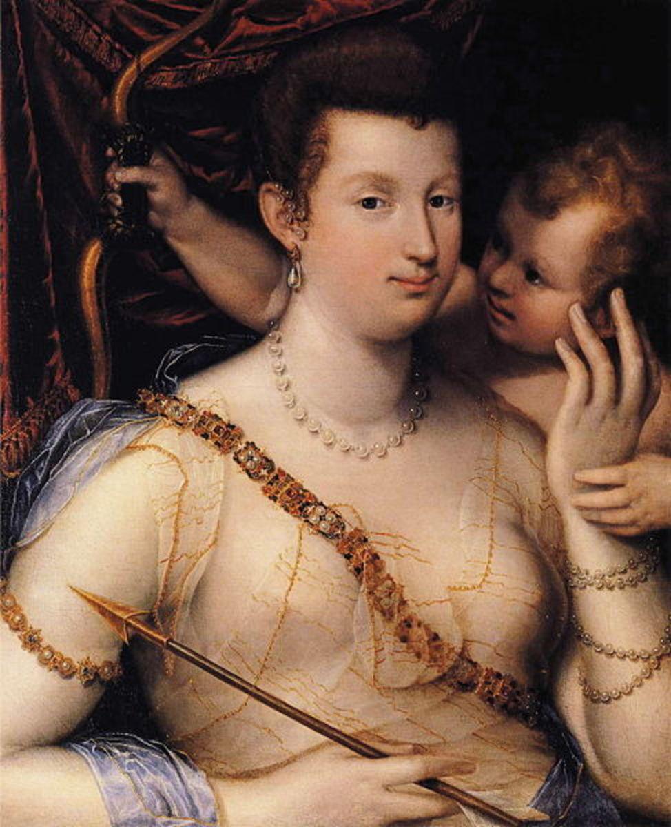 L. Fontana, Portrait of Isabella Ruini as Venus (a. 1590)