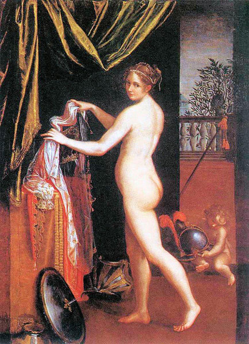 L. Fontana, Minerva Dressing (1613), Rome Galleria Borghese
