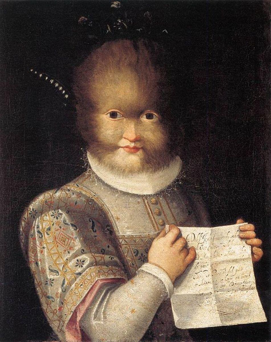 L. Fontana, Portrait of Antonietta Gonzalez (a. 1583), Blois Musée du Chateau