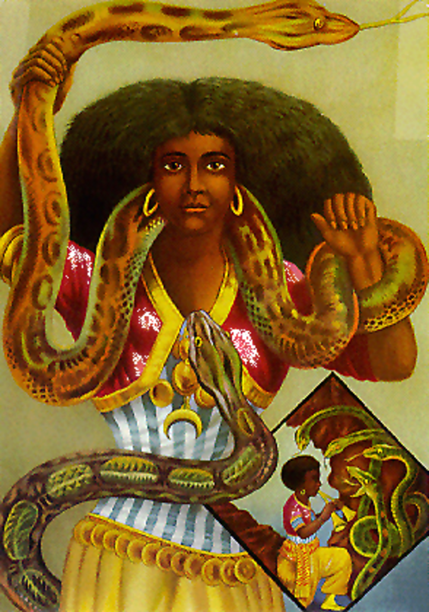 Famous depiction of the Mami Wata deity from the 1800's designer by the German artist Schleisinger.
